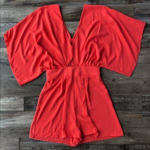ASOS romper with kimono sleeve and cut out
